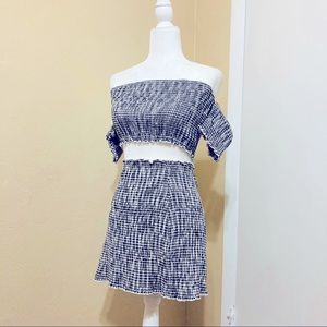 Wild Honey Gingham Two Piece Skirt and Top Set